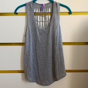 LF Grey Back Cut Out Tank Top - Size Small